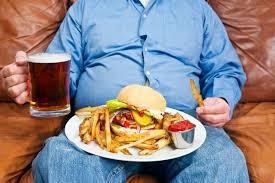 nezdrava in preobilna hrana
