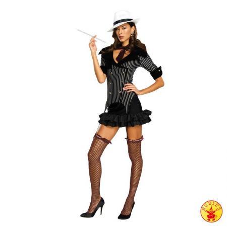 Ženski pustni kostum Gangsterka