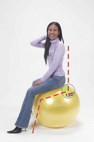 Pravilno sedenje na žogi