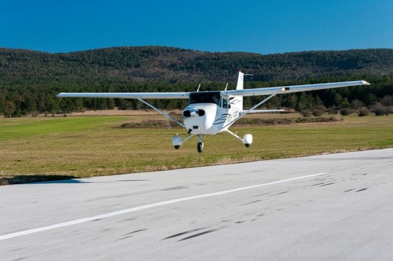 Polet nad Triglav z letalom